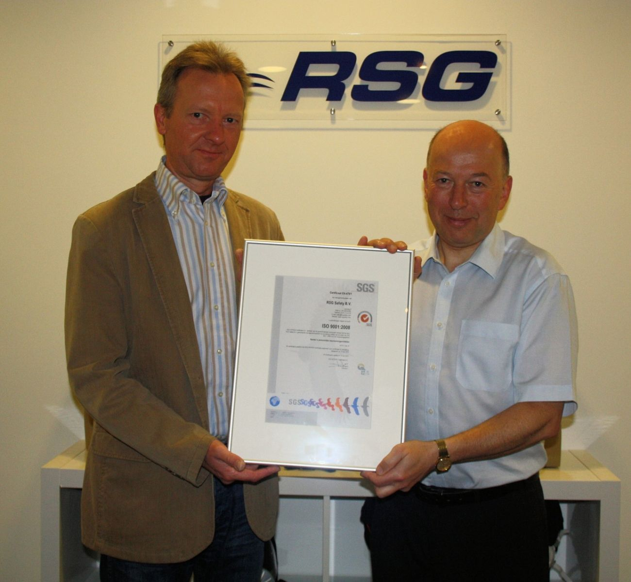 RSG Safety are awarded ISO 9000 Accreditation